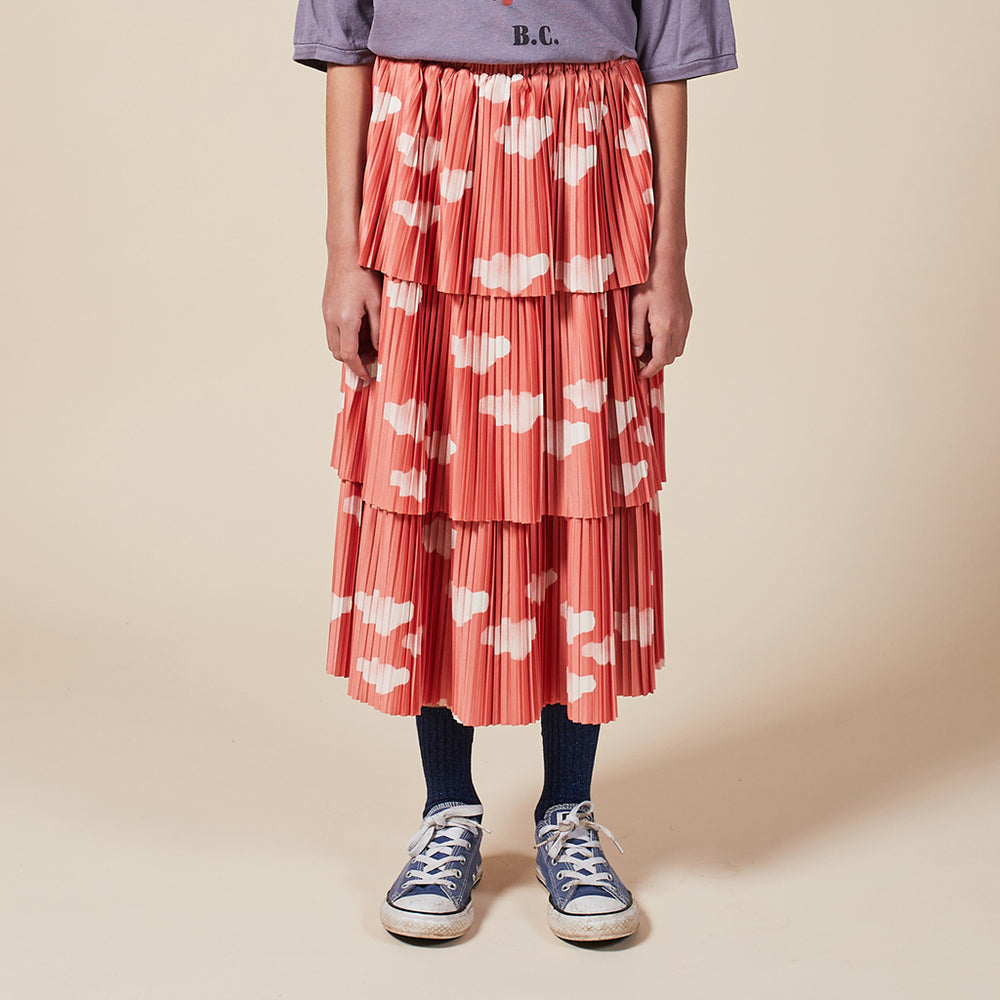 Clouds All Over Woven Skirt by Bobo Choses