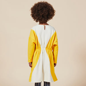 Load image into Gallery viewer, Geometric Fleece Dress by Bobo Choses