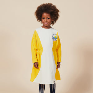 Geometric Fleece Dress by Bobo Choses