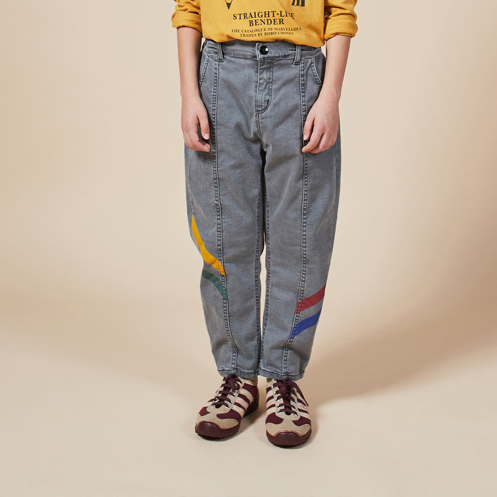 Multicolor Denim Trousers by Bobo Choses
