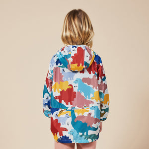 Load image into Gallery viewer, Dinos All Over Rain Jacket by Bobo Choses