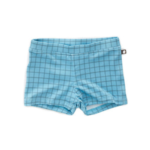 Load image into Gallery viewer, Blue Checks Swim Shorts by Oeuf