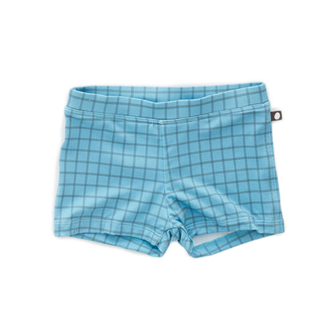 Blue Checks Swim Shorts by Oeuf