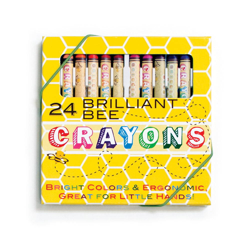 Brilliant Bee Crayons- set of 24 by Ooly