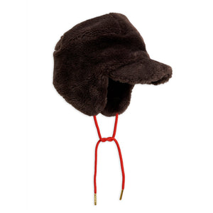 Load image into Gallery viewer, Brown Faux Fur Cap by Mini Rodini