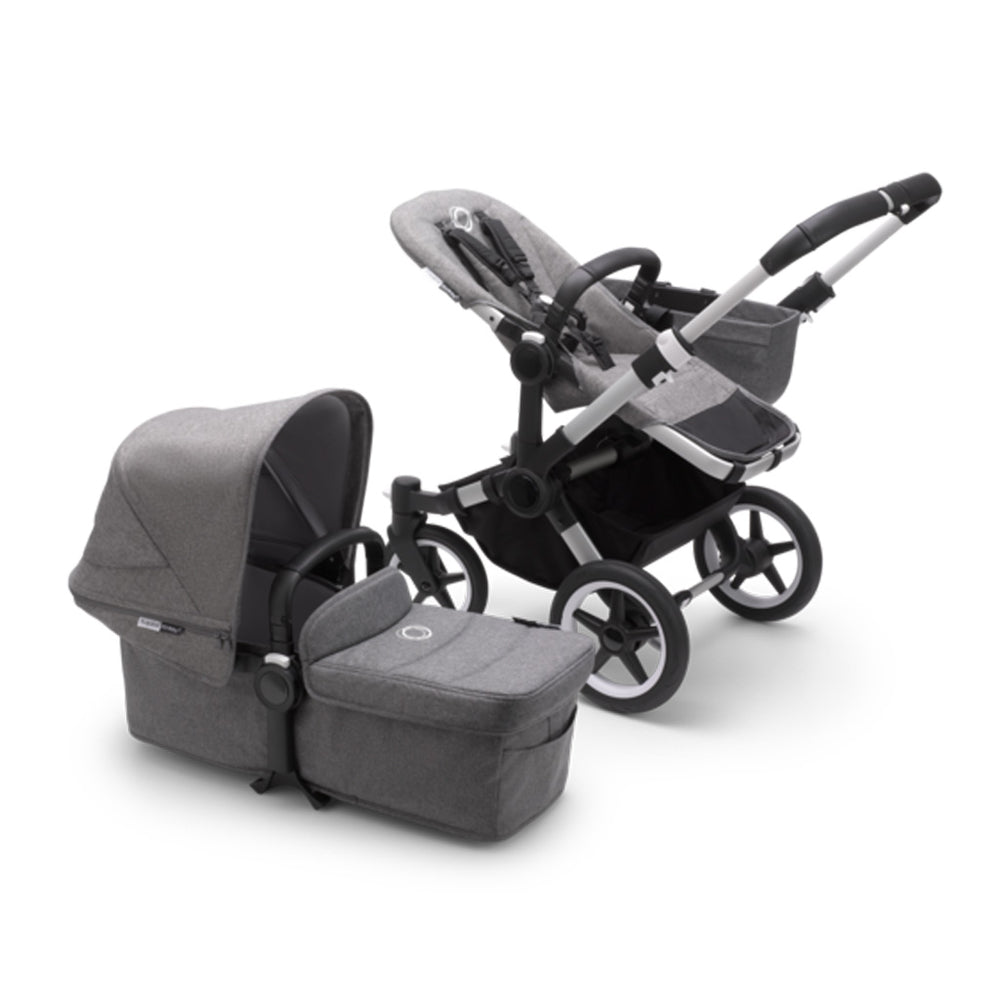 Load image into Gallery viewer, Bugaboo Donkey3 Complete Set- Aluminum / Grey Melange
