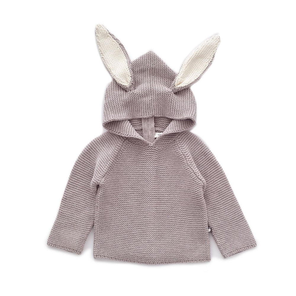 Light Grey Bunny Hoodie by Oeuf