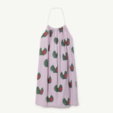 Butterfly Kid Dress in Purple Apples by The Animals Observatory