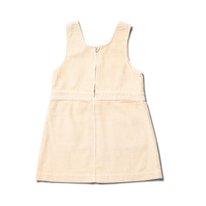 Buttermilk Pinafore Dress by Wynken