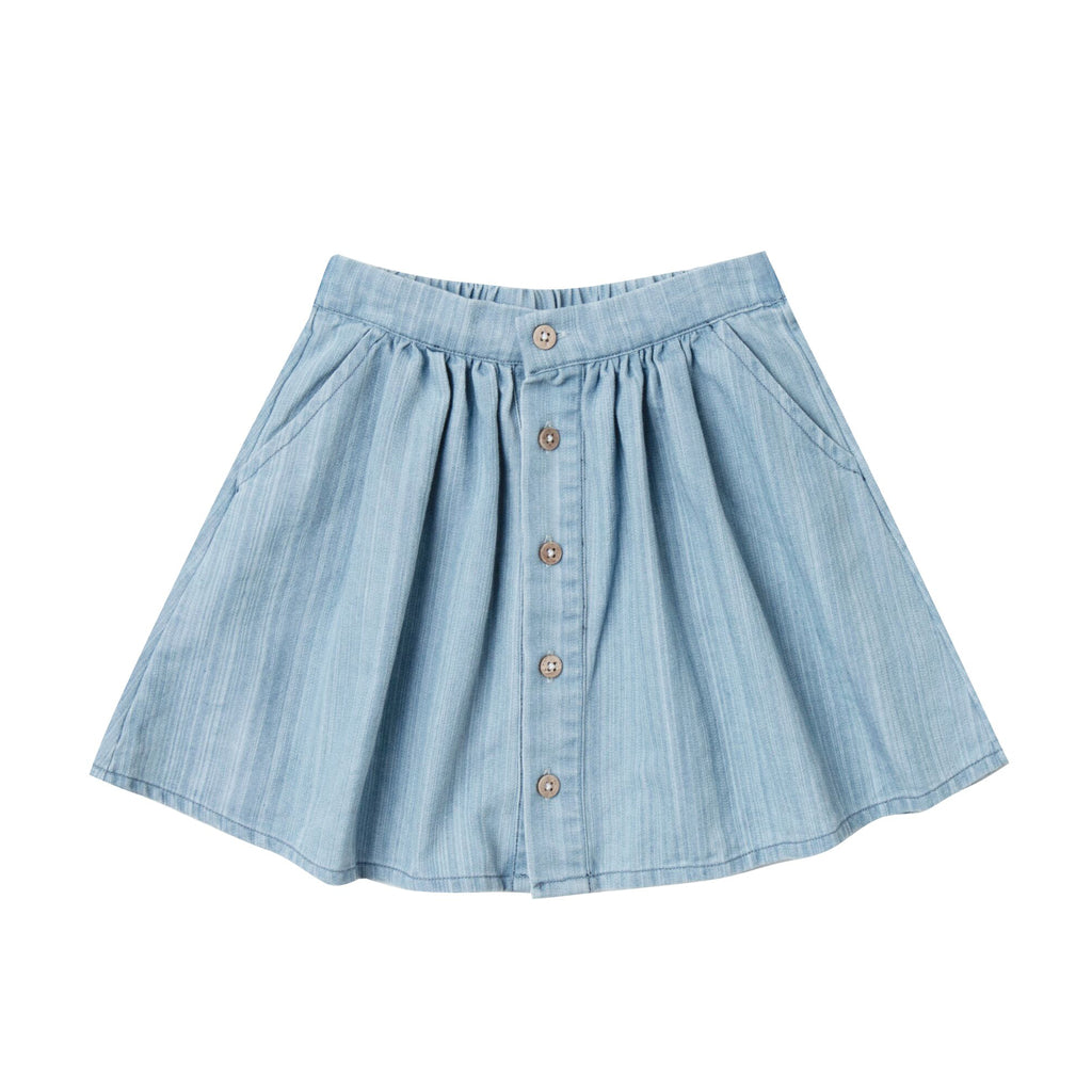 Button Front Mini Skirt by Rylee and Cru