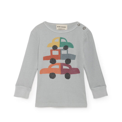 Cars Rib Baby Tee by Bobo Choses