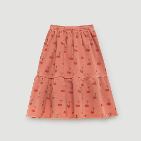 Cat Kids Skirt in Cherries by The Animals Observatory