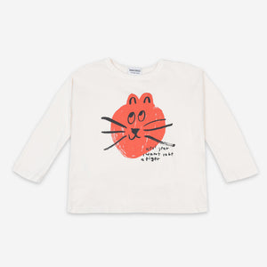 Cat Long Sleeve T-shirt by Bobo Choses