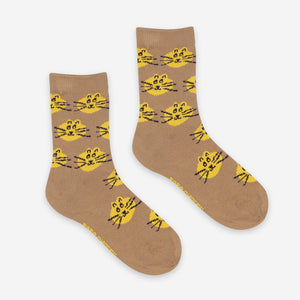 Fun and Cat Jacquard Socks Pack x3 by Bobo Choses