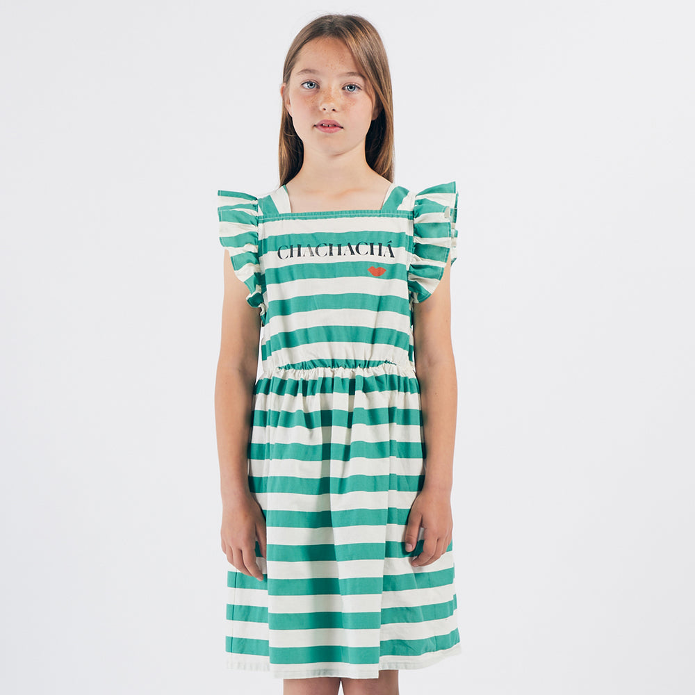 Load image into Gallery viewer, ChaChaCha Kiss Ruffle Dress by Bobo Choses