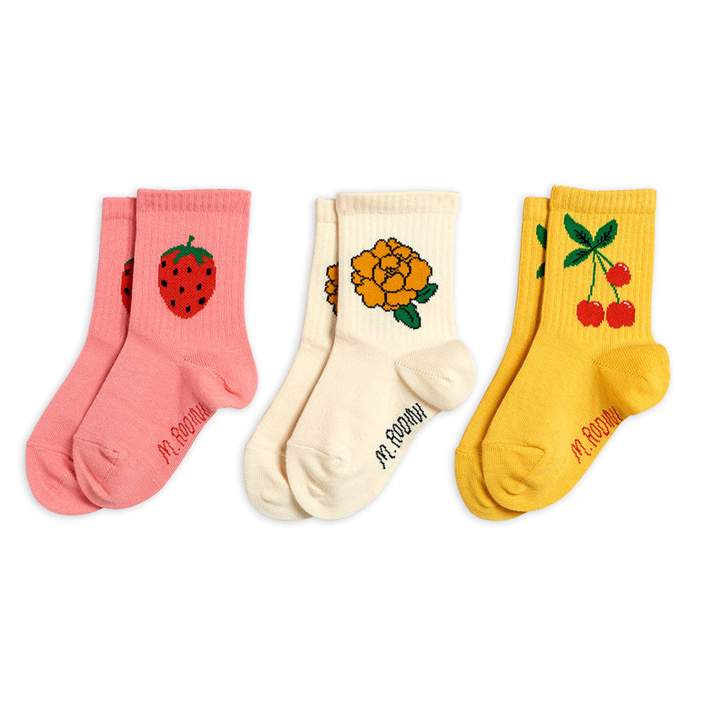 Cherry and Co 3 Pack Socks by Mini Rodini