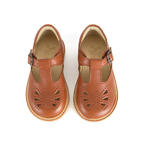 Rosie T-bar Chestnut Brown by Young Soles