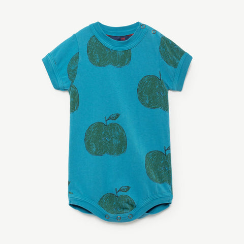 Chimpanzee Babies Bodysuit in Apples by The Animals Observatory