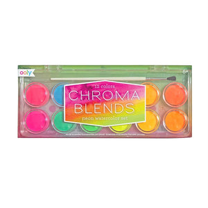 Neon Chroma Blends Watercolor Paint Set by Ooly