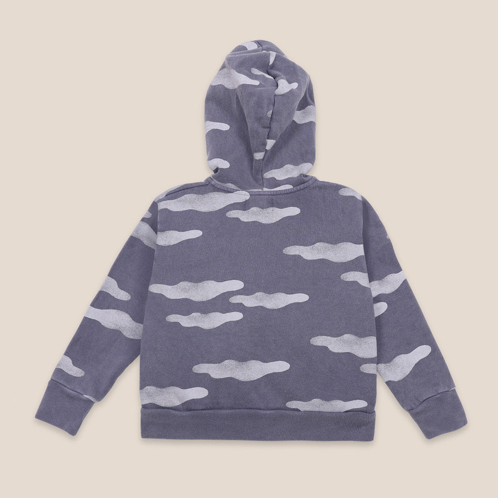 Clouds All Over Zipped Hoodie by Bobo Choses