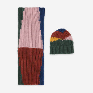 Color Block Neck Warmer and Beanie Set by Bobo Choses