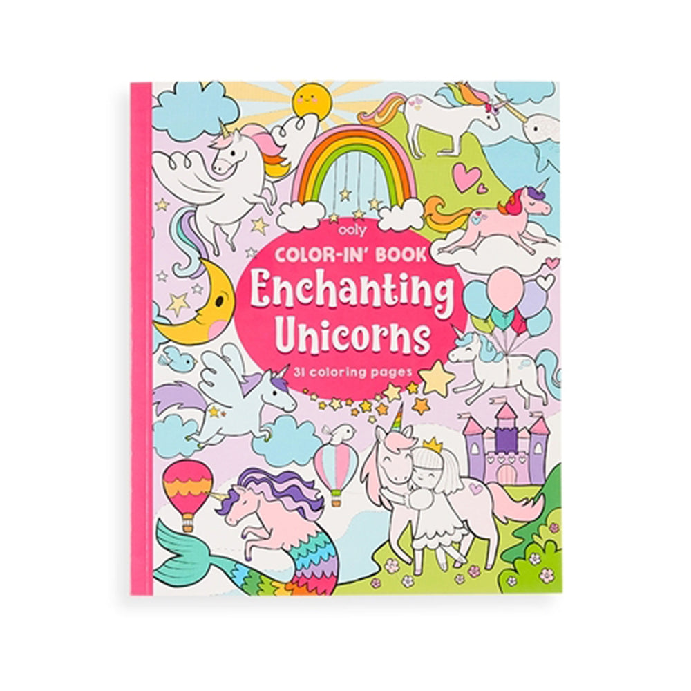 Color-in' Book: Enchanting Unicorns by Ooly