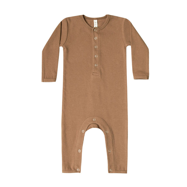 Ribbed Baby Jumpsuit in Copper by Quincy Mae