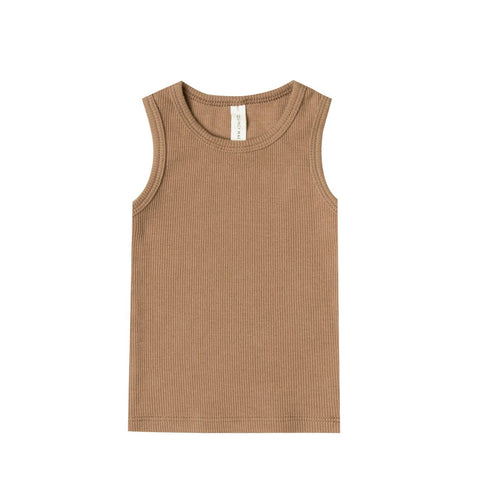 Ribbed Tank in Copper by Quincy Mae