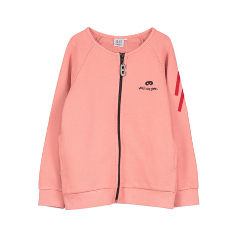 Coral Je t'aime Zip Jacket by Beau Loves