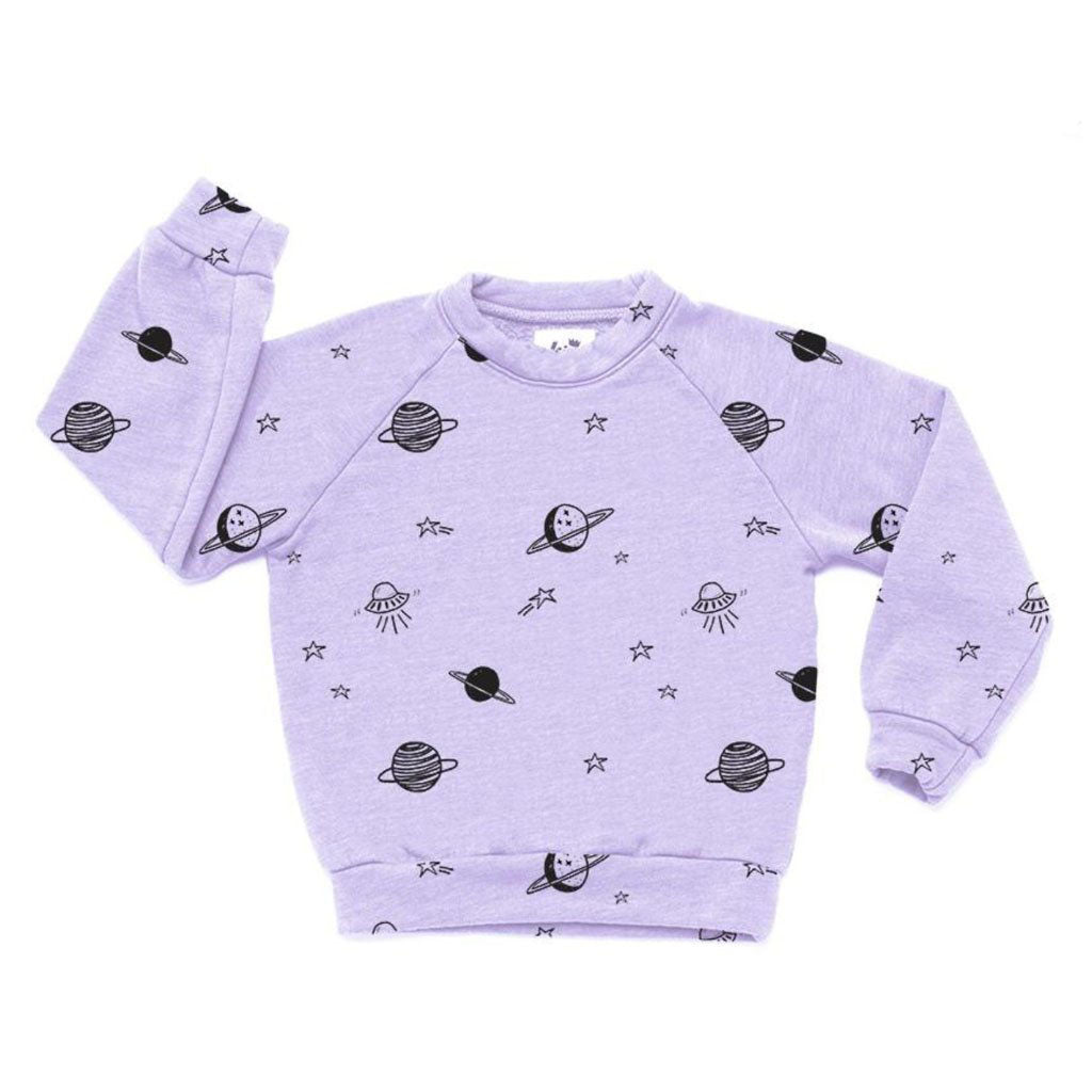 Cosmos Sweatshirt in Lavender by Kira Kids