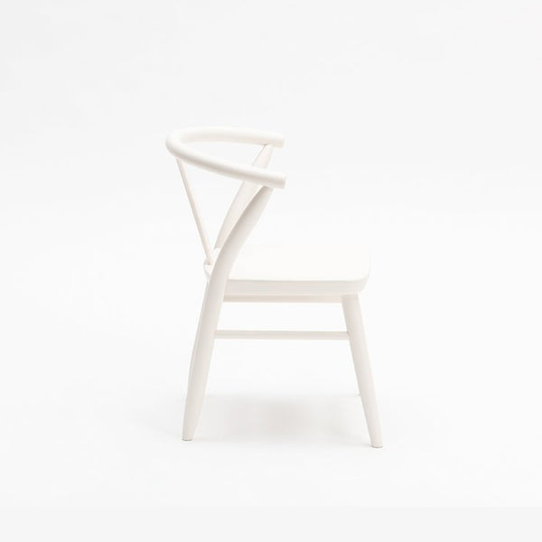 Crescent Chairs in White by Milton and Goose