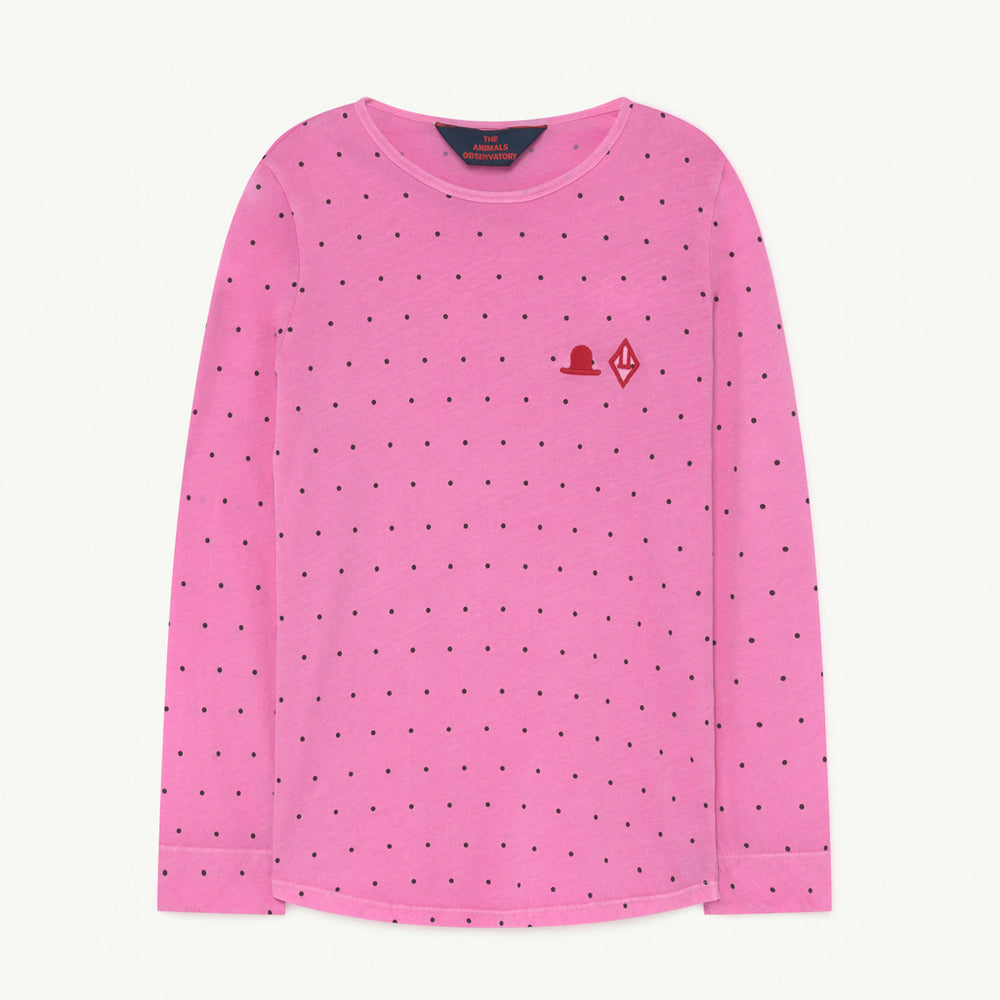 Cricket Kids T-shirt Pink Dots by The Animals Observatory