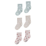 Daisy / Micro Dot / Strawberry Ankle Socks Set by Rylee and Cru