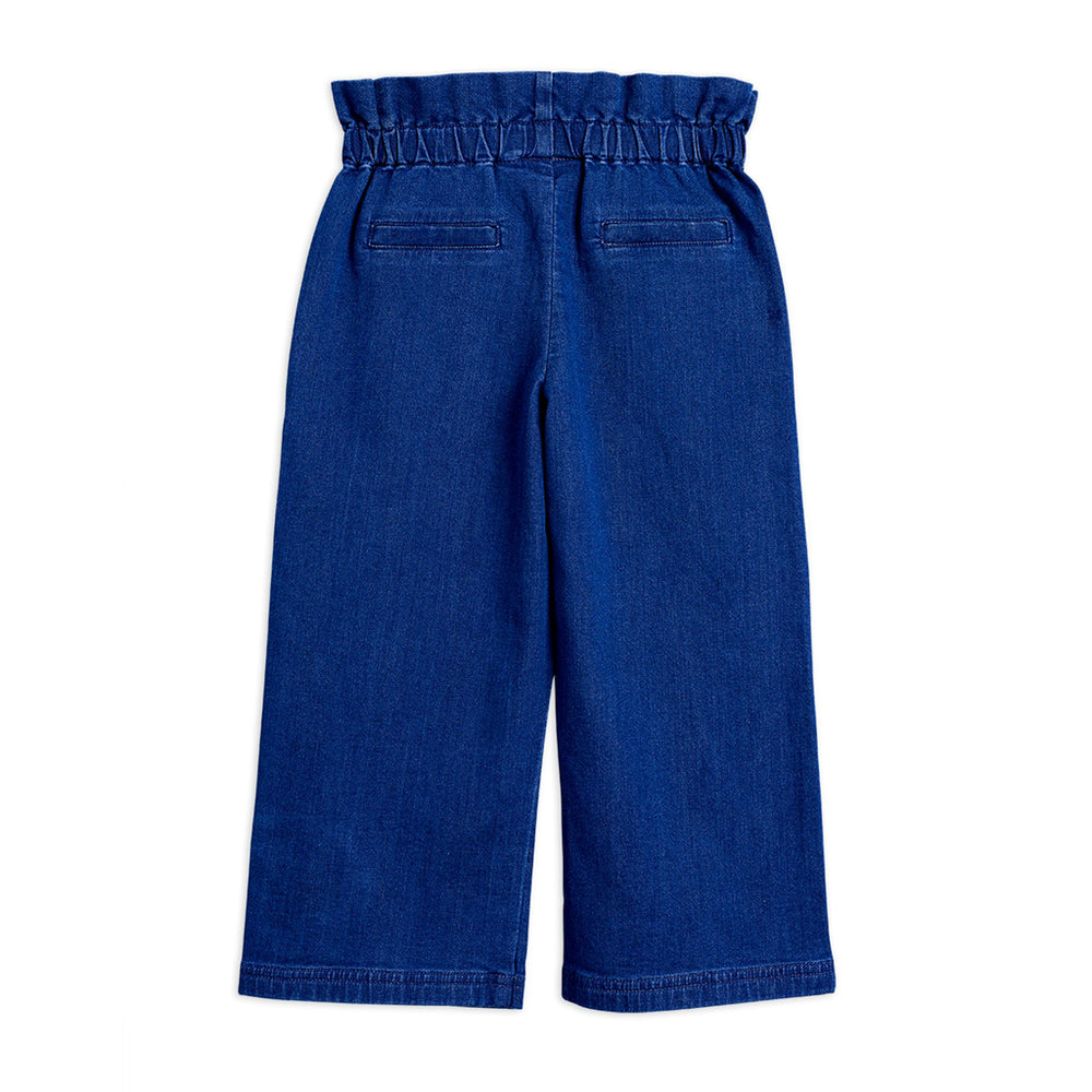 Denim Paper Bag Trousers by Mini Rodini