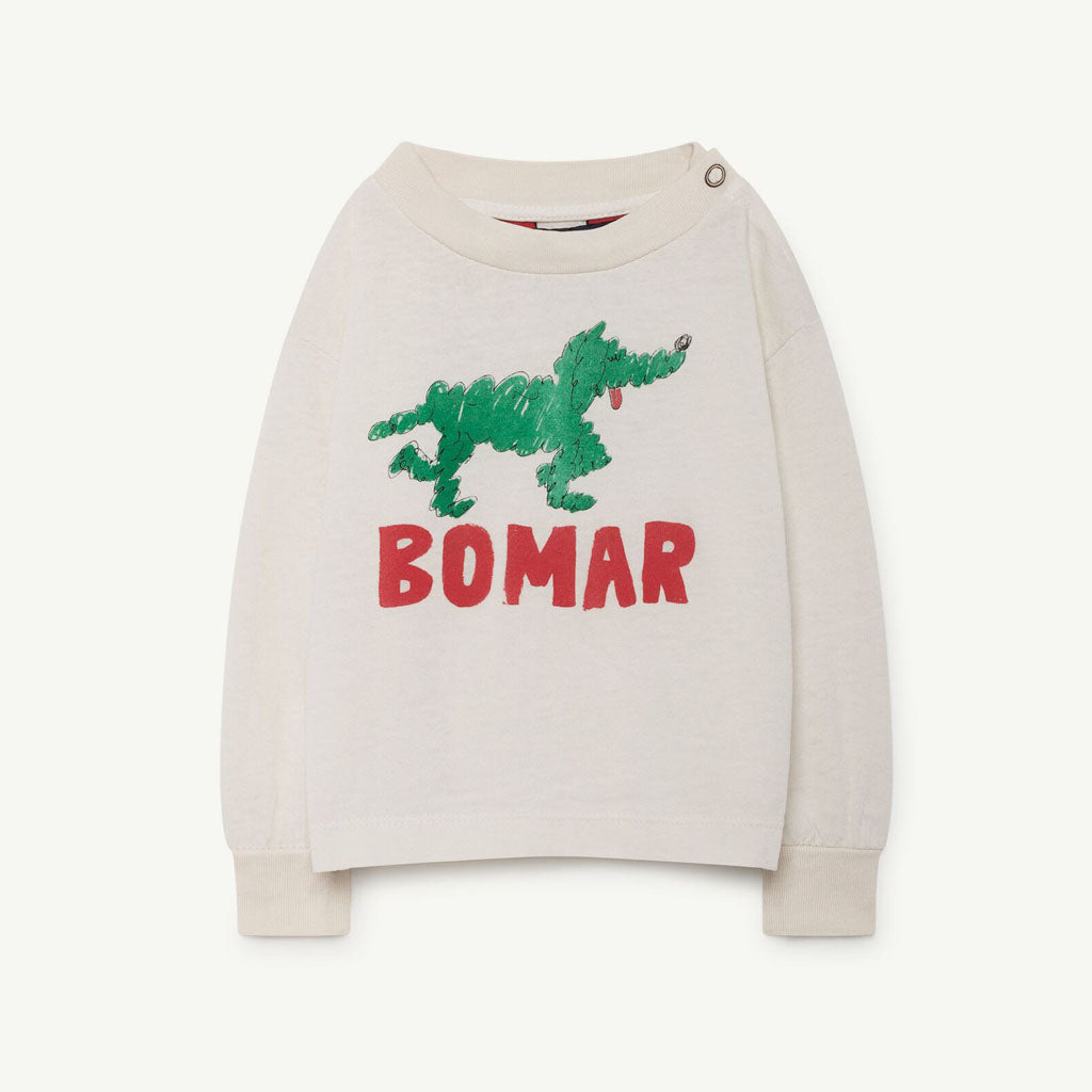 Dog Babies T-Shirt in Green Bomar by The Animals Observatory