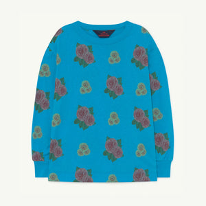 Dog Kids Sweatshirt in Blue Flowers by The Animals Observatory