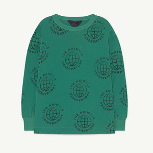 Dog Kids Sweatshirt in Green Planet by The Animals Observatory