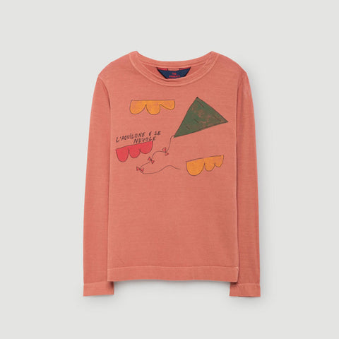 Dog Kids Tee in Deep Orange Kite by The Animals Observatory