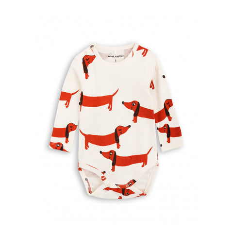 Dog Long Sleeve Body by Mini Rodini
