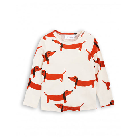 Dog Long Sleeve Tee by Mini Rodini