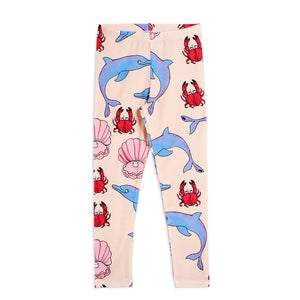 Dolphin Leggings by Mini Rodini