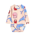 Dolphin Long Sleeve Bodysuit by Mini Rodini