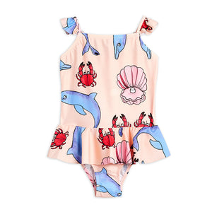 Dolphins Skirt Swimsuit by Mini Rodini