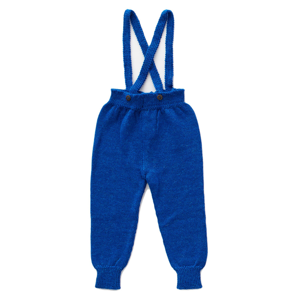 Electric Blue Suspender Pants by Oeuf