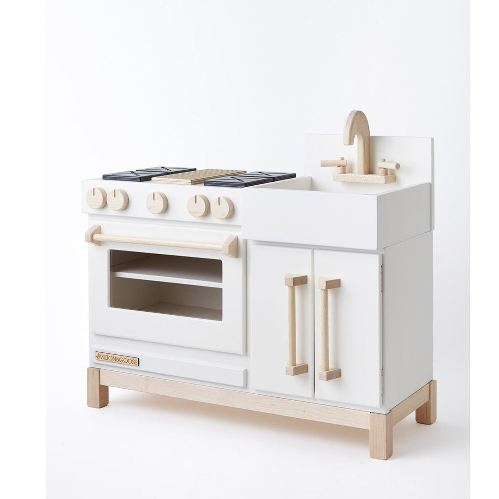Essential Play Kitchen Meringue White by Milton and Goose