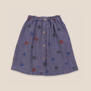 Excuses All Over Woven Skirt by Bobo Choses