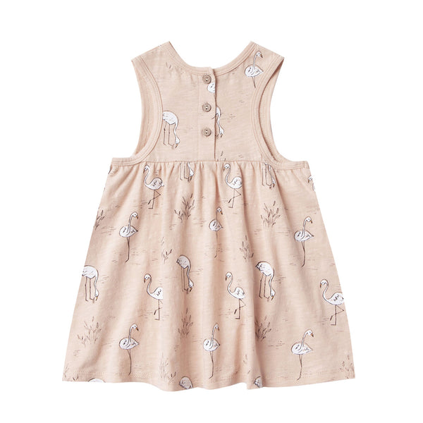 Flamingos Layla Dress by Rylee and Cru