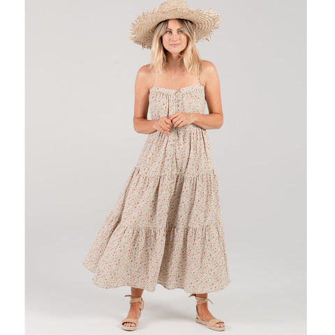 Women's Flower Field Tiered Maxi Dress by Rylee and Cru