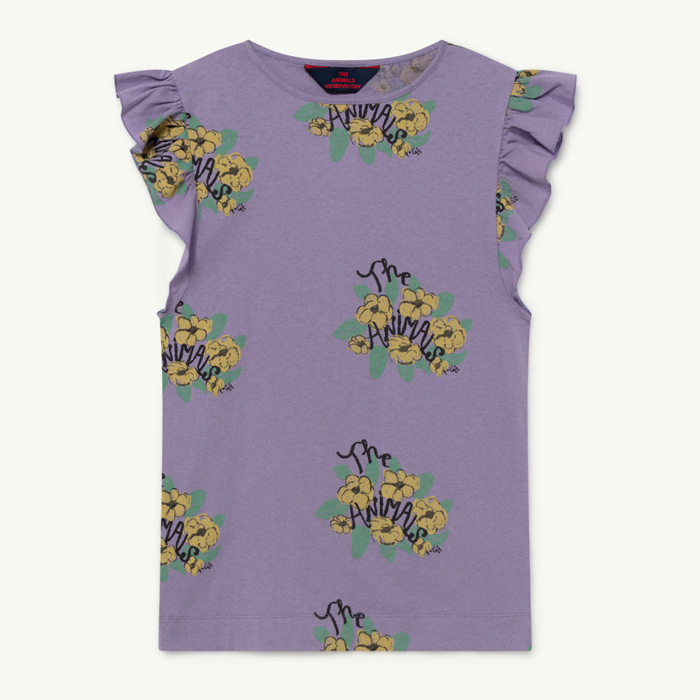 Fly Kids Dress in Purple Flowers by The Animals Observatory