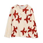 Flying Birds Grandpa Tee by Mini Rodini